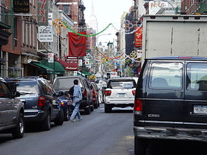 Little Italy, Manhattan - Mulberry Street in Little Italy