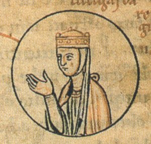 Liutgard of Saxony (died 885) - Liutgard in the pedigree of the Ottonian dynasty, Chronica sancti Pantaleonis, Cologne, 12th century