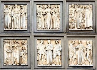 C. J. Allen (sculptor) - Image: Liverpool frieze, St George's Hall composite