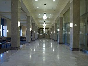 United States Courthouse (Davenport) - First-floor lobby