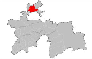 Location of Ghafurov District in Tajikistan