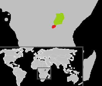 United Nations Observer Mission Uganda–Rwanda - Rwanda (red) and Uganda (green)