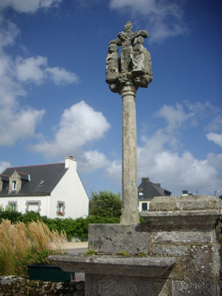 Calvary of Locqueltas cemetery (Morbihan, France), western side
