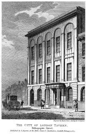 London Tavern - The London Tavern in 1809