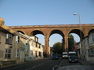 London Road viaduct bridge in United Kingdom