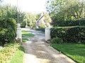 Looking through the entrance to The Elms back towards Bidbury Lane - geograph.org.uk - 985042.jpg