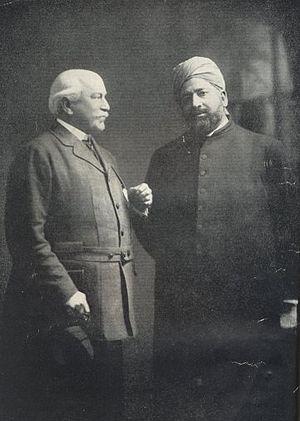 Khwaja Kamal-ud-Din - Khwaja Kamal-ud-Din with Lord Headley