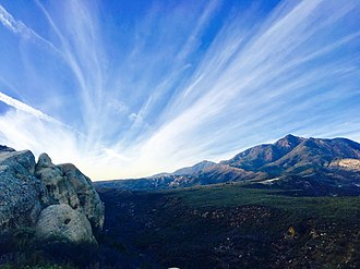 Los Padres National Forest - A northern view looking over-top Los Padres National Forest.