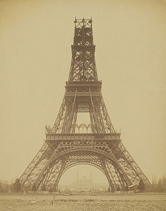 Paris - The Eiffel Tower, under construction in November 1888, startled Parisians and the world with its modernity.