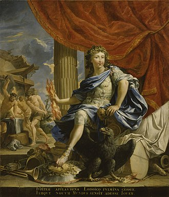 Louis XIV of France - 1655 portrait of Louis, the Victor of the Fronde, portrayed as the god Jupiter