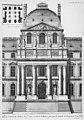 Louvre - Avant-corps de l'ancienne façade du côté de la rivière exécutée sur les desseins de Le Veau - Architecture françoise Tome4 Livre6 Pl14.jpg