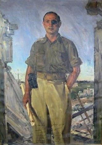 Ludwig Blum - Portrait of Moshe Dayan, 1949