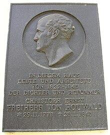Gedenktafel am Neuhaus (Quelle: Wikimedia)