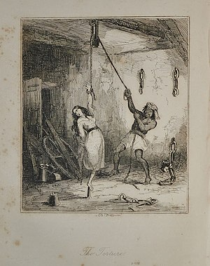 Thomas Picton - Luisa Calderón being tortured, as illustrated in one of the many prints at the time