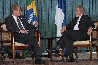 Matti Vanhanen - Vanhanen and the 35th President of Brazil Luiz Inácio Lula da Silva.