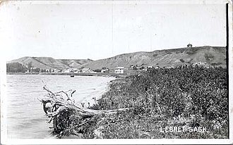 Lebret - Lebret in 1921 from just northeast on the same side of the lake
