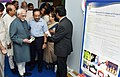 M. Hamid Ansari looking at the 'Exhibition on Science & Technology Innovations', organised by the Parliamentary Standing Committee on Science & Technology, Environment & Forests and Rajya Sabha, in New Delhi (1).jpg