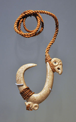 Fish hook - Traditional bone fishing hook of the New Zealand Māori