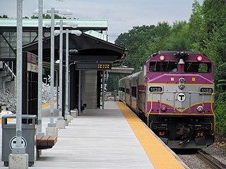 Littleton/Route 495 station Commuter rail station in Littleton, Massachusetts