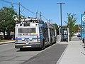 MBTA route SL2 bus at 23 Drydock Avenue stop, June 2017.JPG