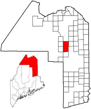 Ashland, Maine - Image: ME Map location of Ashland