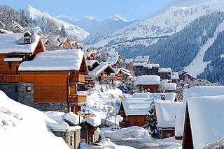 Méribel ski resort in France
