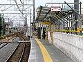 MT-Ajiyoshi Station-Platform (temporary) 5.jpg