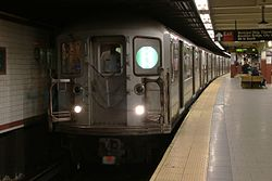 MTA NYC Subway 6 train at Brooklyn Bridge-City Hall.jpg