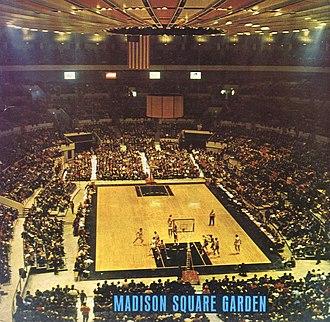 Madison Square Garden - A basketball game at Madison Square Garden circa 1968