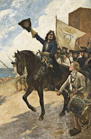 """Battle of Helsingborg - """"Magnus Stenbock vid Helsingborg"""" by Gustaf Cederström"""