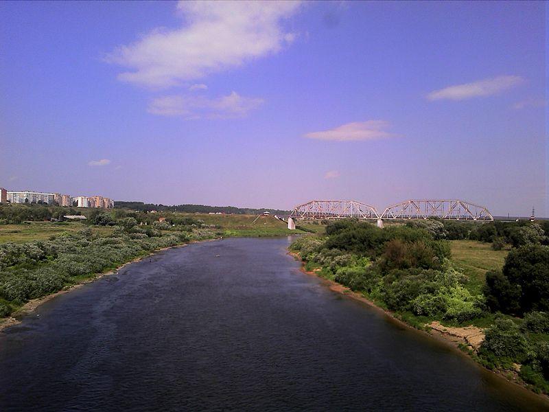 Railway bridge over Dnieper in Mahilyow, Belarus