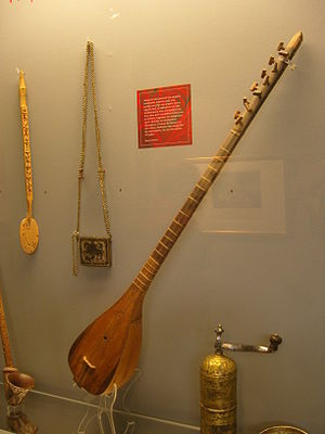 Bouzouki - the tambouras of Yannis Makriyannis in the National Historical Museum, Athens