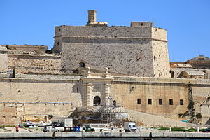 Antonio Ferramolino - The cavalier of Fort St. Angelo in Birgu, Malta, which was designed by Ferramolino