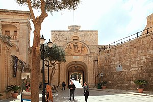 Mdina Gate - Rear of the gate