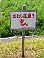 Mamushi warning Sign beside Shonai river.jpg