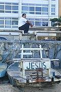 Man with Fishing Boat - Boa Viagem - Recife - Brazil.jpg
