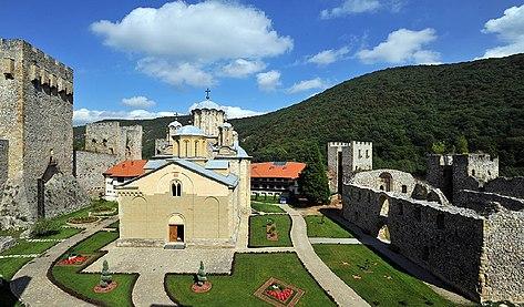 Manastir Manasija, crkva i utvrđenje