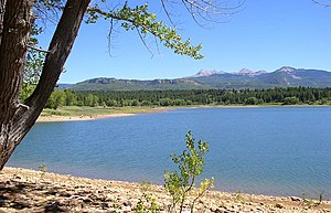 Mancos State Park - Jackson Gulch Reservoir and the La Plata Mountains in Mancos State Park