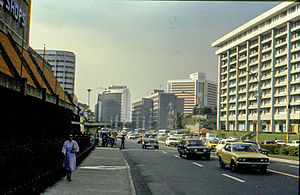 Ayala Avenue - Ayala Avenue south of Makati Avenue, 1982