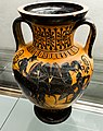 Manner of the Antimenes Painter - ABV 278 37 - chariot and hoplite - horseman and youths - Firenze MAN 70998 - 01.jpg