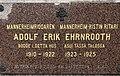 Mannerheimriddare Adolf Erik Ehrnrooth, Minnesplakett på Myntgatan på Skatudden i Helsingfors.jpg