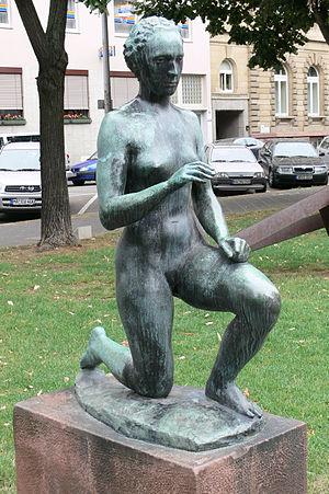 Richard Scheibe - Dawn (German:Die Morgenröte), 1937. Bronze, Skulpturengarten Mannheim