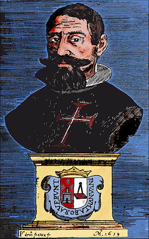 Manuel de Faria e Sousa - Portrait of Manuel de Faria e Sousa in Ásia portuguesa
