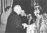 Mao Zedong, Kliment Voroshilov and Mei Lanfang in Beijing.jpg