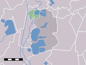Nederhorst den Berg - Image: Map NL Wijdemeren Nederhorst den Berg