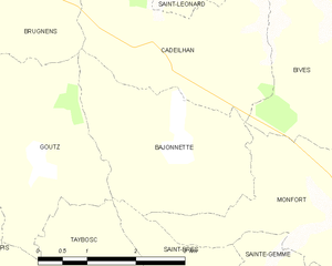 Bajonnette - Bajonette and its surrounding communes
