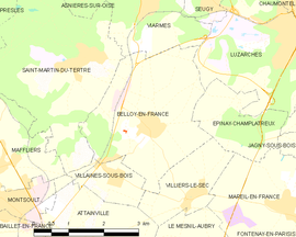 Mapa obce Belloy-en-France