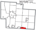 Map of Delaware County Ohio Highlighting Westerville City.png