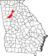 Map of Georgia highlighting Fulton County.svg