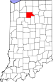 Map of Indiana highlighting Fulton County.svg